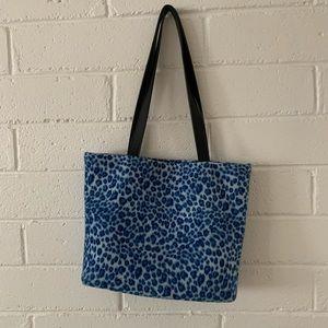 delias blue cheetah tote bag